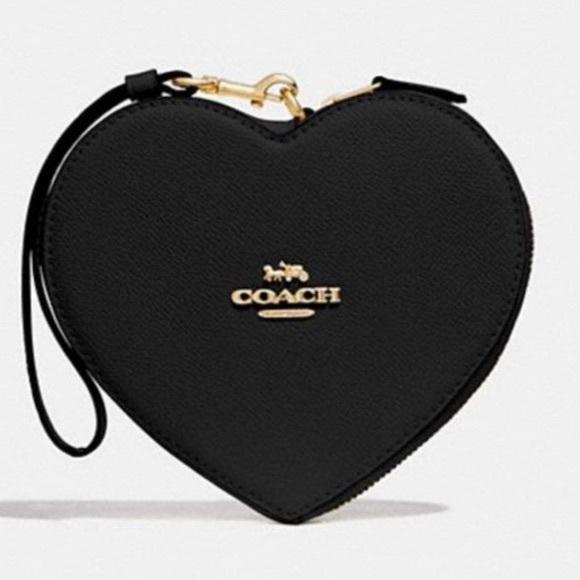Coach Handbags - Coach NWT Black Heart Wristlet/Wallet